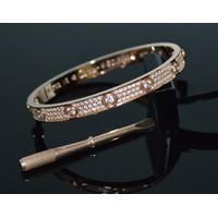 Vòng Cartier đính hột đủ 3 màu  - trang sức inox