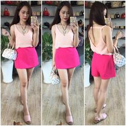 quần đắp chéo màu hồng hàng xuất