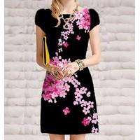 Đầm suông in hoa CS259