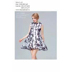 Đầm suông xòe oversize