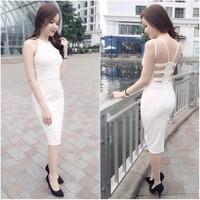 HÀNG NHẬP CAO CẤP - Đầm body hotgirl hở lưng