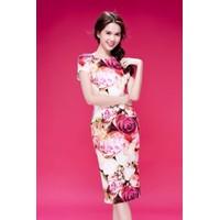 HÀNG NHẬP CAO CẤP - Đầm body hoa hồng Ngọc Trinh
