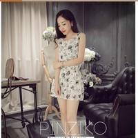 Set Bộ áo quần rời in hoa duyên dáng,đáng yêu,trẻ trung-AQ309