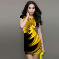 Đầm Họa Tiết Ánh Vàng