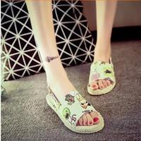 Giày Sandal 2015- Giày Sandal - Giày Sandal Vải Thô - MSP 2287