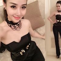 Bộ áo cúp ngực và quần ống suông  Helen Thanh Thảo - hàng cao cấp