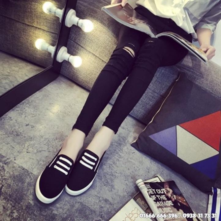 Giày slip on giả bata màu đen G800-D 6