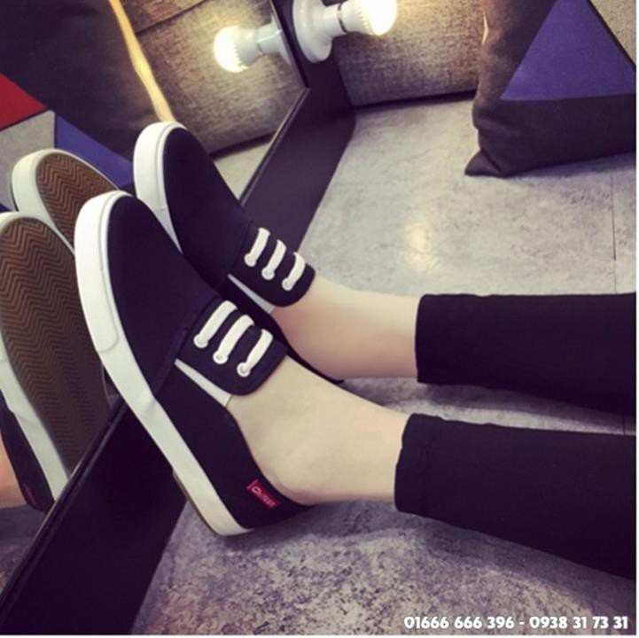 Giày slip on giả bata màu đen G800-D 8