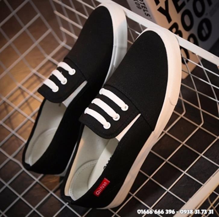 Giày slip on giả bata màu đen G800-D 11