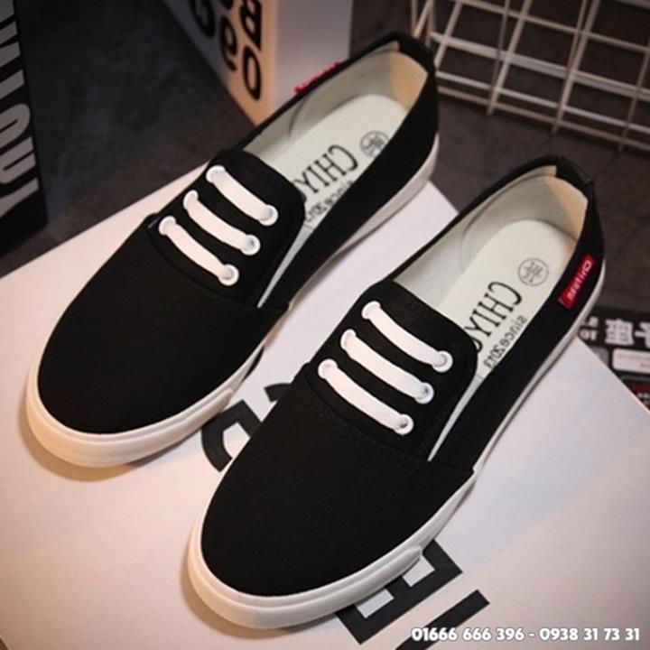 Giày slip on giả bata màu đen G800-D 10