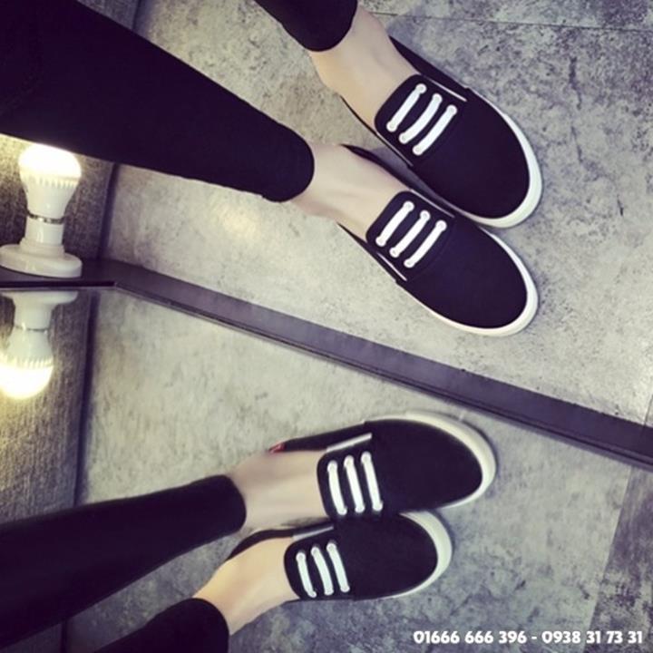 Giày slip on giả bata màu đen G800-D 7