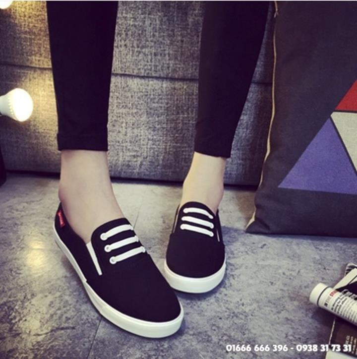 Giày slip on giả bata màu đen G800-D 5