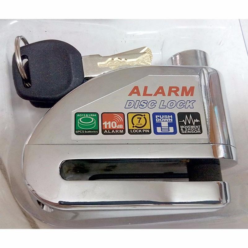 Khóa đĩa xe máy báo động LT8303 bạc 3