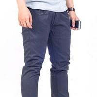 Quần kaki ống côn xám chì kiểu jeans K25