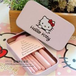 Bộ Cọ Hello Kitty Xinh Xắn Dạng Hộp Bỏ Túi