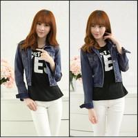 Áo Khoác Nữ Jeans Lửng Cao Cấp WAK214 Xanh