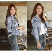 Áo Khoác Nữ Jeans Túi Kiểu WAK213 Xanh