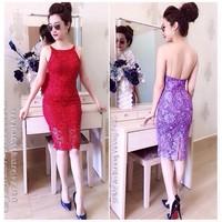 Đầm body ren dây xích lưng Ngoc Lang phuong