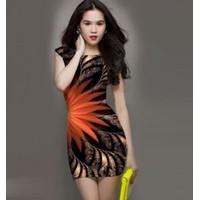 Đầm body in hoa CS263
