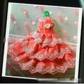 Đầm cưới ren thêu tinh xảo cho búp bê barbie
