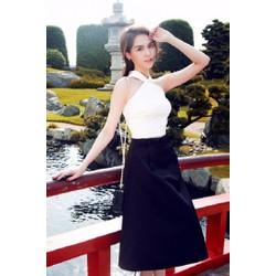 Set Bộ Áo Cổ Yếm Chân Váy Xòe Xinh Như Ngọc Trinh - SET2304