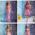 Đầm dạ hội cho búp bê barbie
