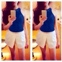 Set nguyên bộ áo croptop ba lỗ quần váy - SET202