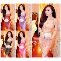 Đầm cúp ngực ánh kim đan xích bella