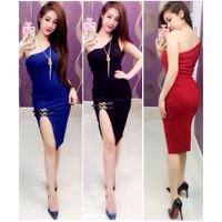 Đầm body 1 vai xẻ tà Ngoc Lang Phuong