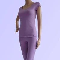Bộ yoga cotton áo có tay quần lửng