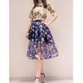 DM24 - HÀNG NHẬP - Đầm họa tiết sắc màu - váy voan lưới +áo phi bóng