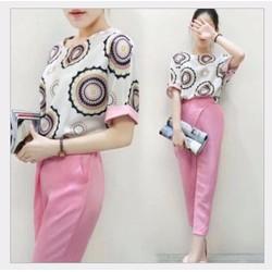 Thời trang nữ 2015 - Set áo và quần nhập khẩu YW539