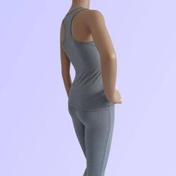 Bộ tập yoga cotton áo ba lỗ quần lửng