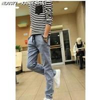 Quần jeans dài lưng thun Mã: ND0377 - XANH NHẠT