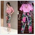 Set áo và quần dài họa tiết Hong Kong YW544