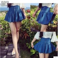 Váy quần jeans lưng cao xòe  Mã: VN318