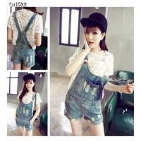 Quần short jeans yếm rách Mã: QN522