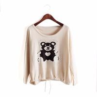Áo thun họa tiết hình chú gấu dễ thương