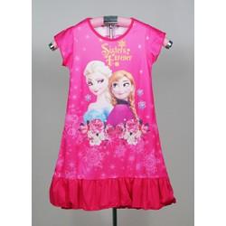Đầm thun hoạt hình công chúa Elsa và hoa hồng