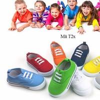 Giày bata thể thao cho bé trai và bé gái T2x nhiều màu
