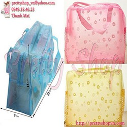 TTQ029x2 - Combo 2 túi trong suốt đựng đồ tiện dụng