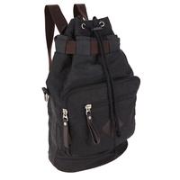 Balo du lịch vải bố thời trang Glado màu đen - BLG78