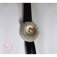Đồng hồ Cái Jbaili đính hạt mặt Kitty D0238-DHA067 - Đen