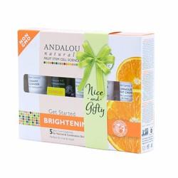 Bộ sản phẩm sáng da cho da thường, hỗn hợp Brightening - Andalou