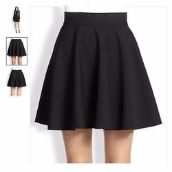 Chân váy xòe màu đen