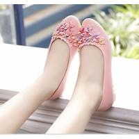 HÀNG LOẠI I CAO CẤP - Giày búp bê đính hoa xinh xắn