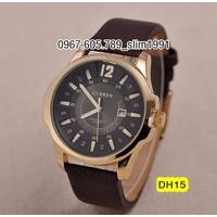 Đồng hồ nam cao cấp dây da Curren DH15