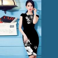 Đầm Họa Tiết In Hoa Đồng Nội