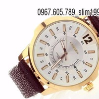 Đồng hồ nam cao cấp dây da Curren DH15W