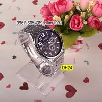 Đồng hồ nam ORLANDO dây thép không gỉ, mặt kính chống xước_DH24B